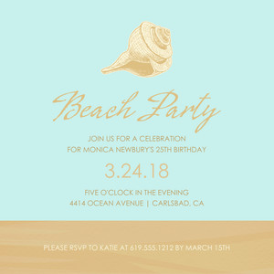 Birthday Beach Party