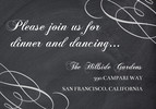 Elegant Chalkboard Reception Card