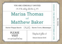 Elegant Ticket Invitation