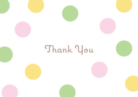 Thank You Dots Pink