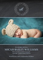 Baby Boy Chalked Announcement