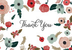 Watercolor Floral Thank You