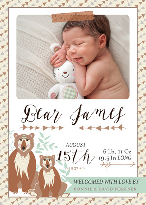 Bonnie's Baby Announcements (Boy)