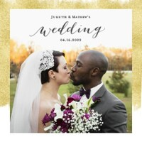 Gold Foil Wedding