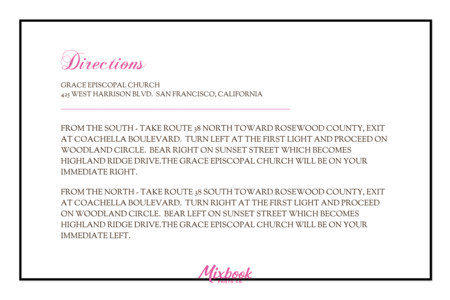 Hot Pink Damask Directions