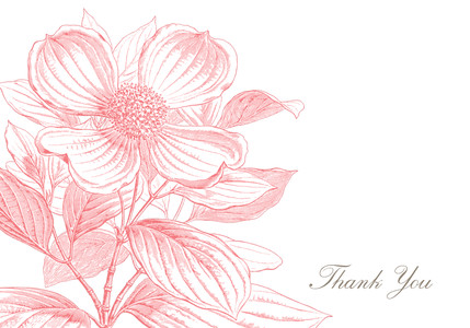 Pink Floral Thank You