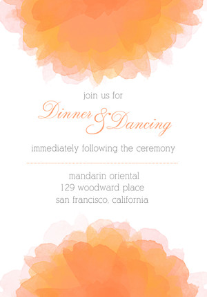 Watercolor Elegance Reception