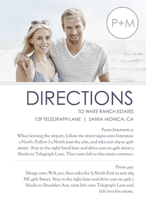 Modern Photo Directions Card