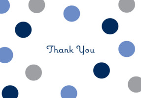 Thank You Dots Blue