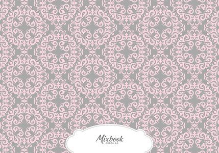 Pink and Grey Damask Thank You