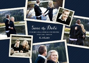 Save the Date Cards - Couple Collage by Mixbook