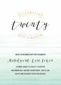 Watercolor Anniversary