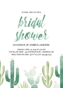 Cacti Bridal Shower
