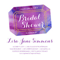Purple Gem Bridal Shower