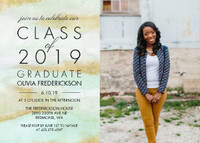 Abstract Mint & Gold Grad Invite