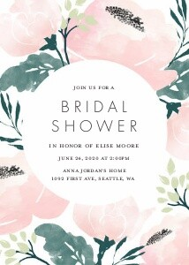 Painted Floral Bridal Shower