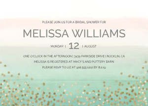 Painted Metallics Bridal Shower