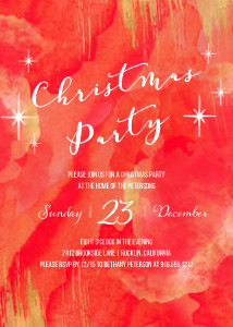 Painted Starry Christmas Party