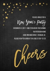 Cheers New Year's Invitation