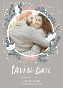 Floral Save the Date by Hello!Lucky