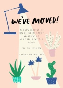 Houseplants Moving Announcement by Hello!Lucky